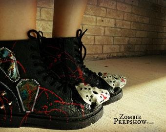 """Jason Skull """"Camp Crystal Lake"""" Combat Boots"""