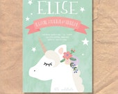 Printable Unicorn Birthda...