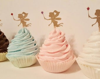 Fairy cupcake toppers whimsical dust party decor