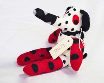 Ernie Elephant. Sock animal, sock elephant, sock monkey, soft plush toy for children.