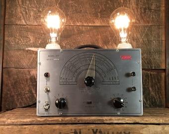 Upcycled EICO Audio Generator Table Lamp - Repurposed Industrial Lighting