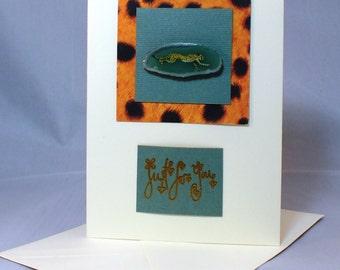 Cheetah Greetings Card