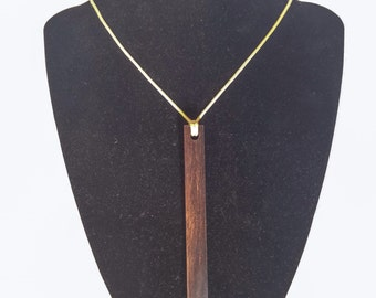 Timber necklace wood necklace