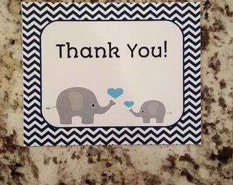 Printable Elephant Thank you Cards mms001
