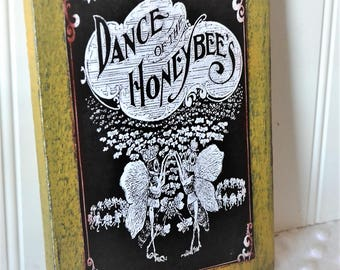 Honey Bee decor ~ honey Bee ~ Wooden bee sign ~ Country style home decor ~ Rustic wall art decor ~ Rustic farmhouse wall decor