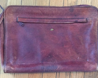 Vintage Buttery Soft Leather Portfolio Clutch by The Bridge