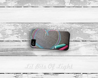 Heart iPhone 7 Case - iPhone 6s Plus Cover - iPhone 5s Case - iPhone 6 Plus - Love iPhone 5C Case - Fun iPhone 6s Case - Chalk iPhone 7 Plus
