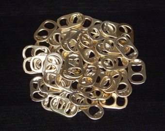 50 Light Gold Aluminum Pull Tabs (like from some European beer cans)