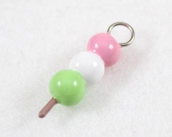 Cute Dango Charm - Polymer Clay Charm - Polymer Clay Dango - Kawaii Dango Charm - Japanese Food - Anime Charm - Cell Phone Charm