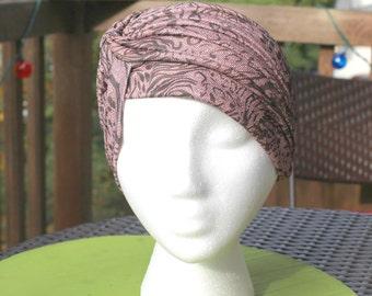 Modern Women's Turban,Print Turban,Beige Hijab,Women's Beige Turban,Evening Hat,Kourtney Kardashian Hat