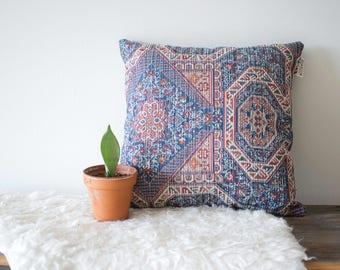 Turkish Print Chenille Throw Pillow