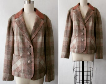 Lilli Ann Blazer |1970s Lilli Ann Suit Blazer | vintage 80s Lilli Ann Blazer | vintage suit blazer| large | The Lilli Ann Plaid Blazer