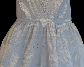 Antique Victorian Christening Gown for Boy or Girl Stunning Embroidery