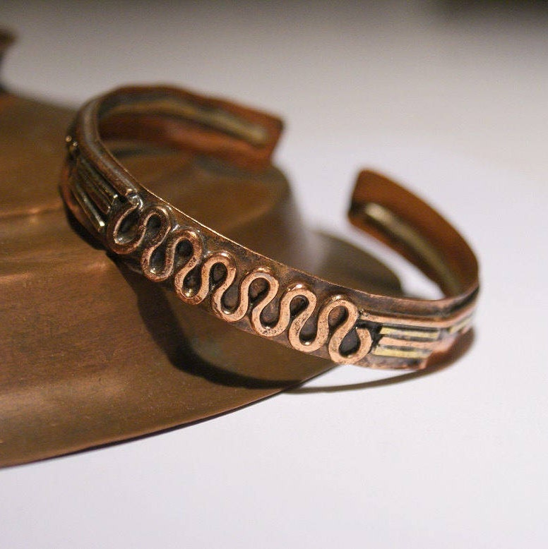Men S Cuff Bracelet Wire Wrapped Jewelry Handmade Copper