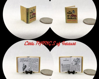 THE MOUSE And The MOTORCYCLE Miniature Dollhouse 1:12 Scale Illustrated Book