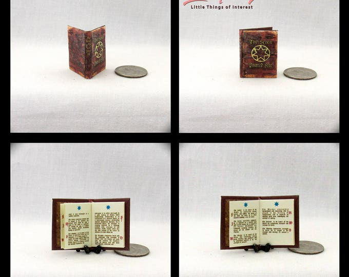 The SEVEN POINTED STAR Miniature Book Dollhouse 1:12 Scale Game Of Thrones