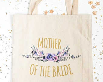 Mother of the Bride Gift Bag, Bridal Party Totes, Mother of the Groom Tote, Wedding Totes, MOTG, MOTG, Wedding Gift Bags, Purple, Plum