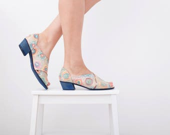 Women's Sandals light colorful Leather Open toe pumps Criss Cross Slides handmade New collection sping summer 2017