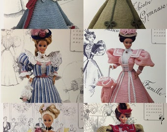 "Annie's Calendar Bed Doll Society, The 1994 Collector's Series, Set of 'The Gibson Girl Collection of the Gay 90s"", Crochet Doll Patterns"