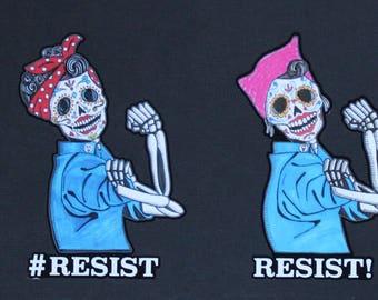 Day of the Dead Rosie Resist sticker #143-144