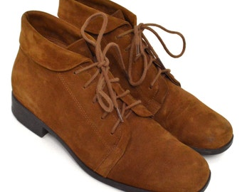 Vintage 90s St. John's Bay Suede Leather Chukka Boots Shoes Sz 8 M
