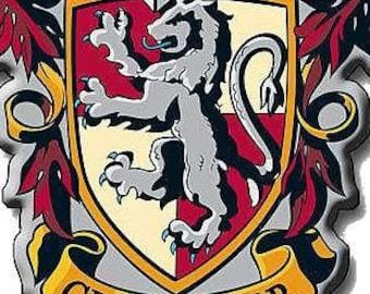 HP - Gryffindor - Hogwarts House Crest Digital Download