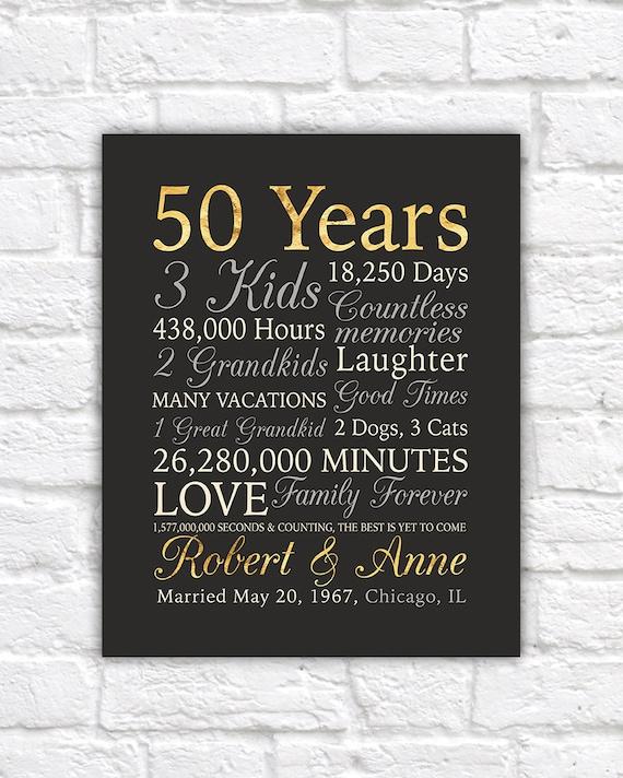 50th anniversary gift gold anniversary 50 years wedding for Gifts for 50 year wedding anniversary