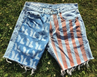 Bleached & Faded // Young Life Jean Shorts in Bright Blue