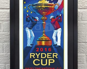 Ryder Cup 2016 Golf gift sports art poster print painting