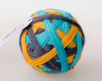 ELECTRIC AVENUE - vibrant hand dyed self striping sock yarn