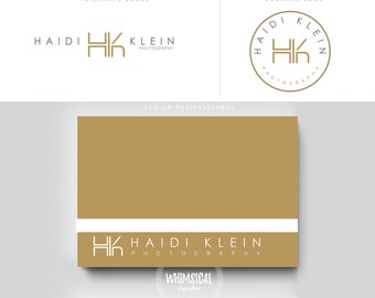 minimal monogram logo 3 photographer initials  businesscards  simple modern gender nutral branding kit Identity minimal wedding photographer