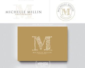 decoorative monogram logo photographer initials  businesscards  minimal modern gender nutral branding kit Identity cute wedding photographer