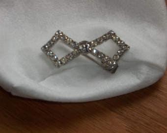 vintage rhinestone clip barrette
