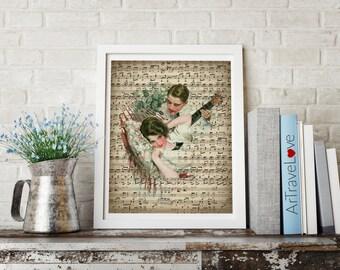 Romanced by Music Art Print