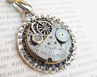 Steampunk Bicycle Necklace Pendant -Watch Part Necklace- Tricycle Necklace Gift for Steampunk Lovin