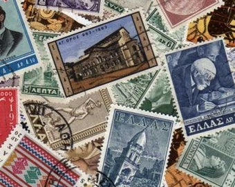 50 Diff Greece Stamps, Stamp Collection, Greek Postage Stamps, Greek Stamps, Greece Postage Stamps, Postage Stamps, Grecian Stamps