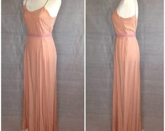 1930's Silky Long Gown