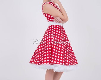 """50s dress with PolkaDots """"Betty 03"""" Red"""