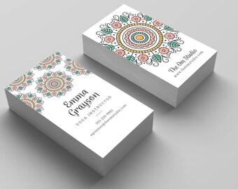 Instant Download - Mandala Business Card Template