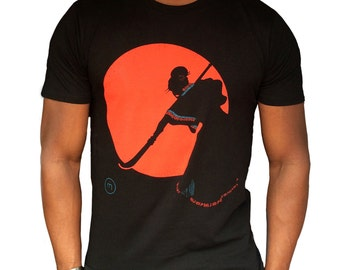 Fairtrade T-shirt Bold Print Graphic T-shirt Warrior Geisha Unisex Organic Cotton Tee Gift For Him Gift for Her Japanese Sunset Tshirt