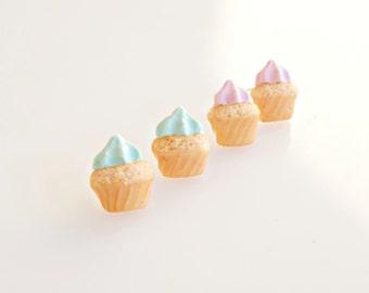 Cupcake Studs, Cupcake Earrings, Tiny Cupcakes, Cupcake Jewelry, Mini food Earrings, Polymer Clay Studs, Miniature Cupcakes