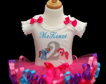 my little pony birthday outfit, 2nd birthday outfit girl, my little pony birthday shirt, second birthday outfit girl, cake smash outfit girl