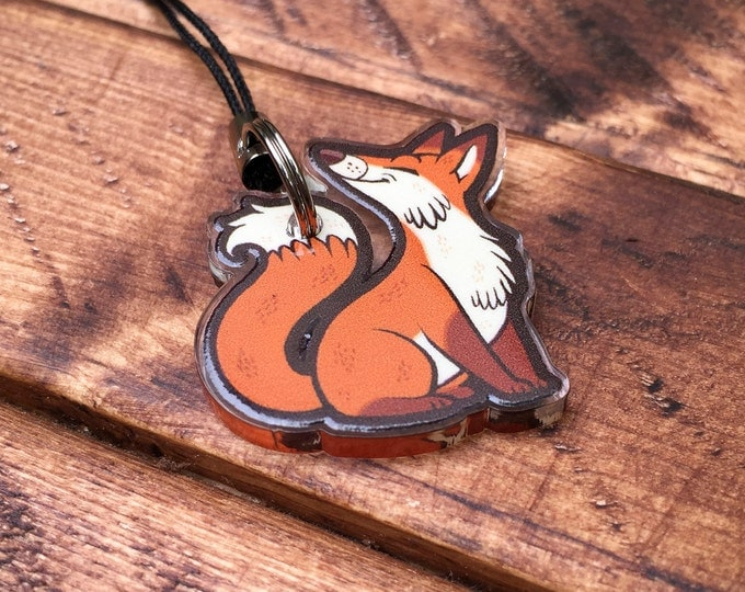 "1"" Animal Charms - Red Fox"