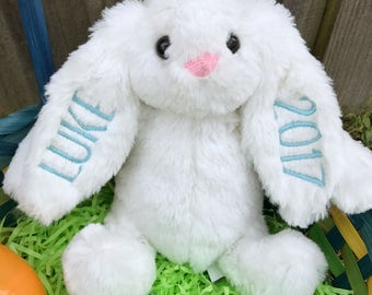 Stuffed Bunny, Personalized Gift, Name Rabbit, Baby Shower Gift, Easter Bunny, Easter Basket Toy, Kids' Easter Gift, Easter Present