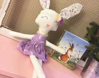 Bunny, Rag Doll, Fabric Doll, Cloth Doll, Rag Dolls, Cloth Dolls, Handmade Cloth Dolls, Dolls, Doll, Handmade Dolls, Bunny Doll