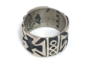 Taxco Silver Ring Cross Ring Mexico Silver Mexican Southwest Jewelry Size 5