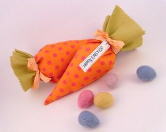 Carrot bag, gift bag, Easter egg hunt, Easter treats, Easter basket