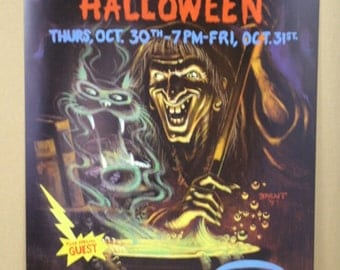 Blues Traveler Poster with Jonny Lang Boston Halloween 1997 Signed and Numbered  by Bill Brent