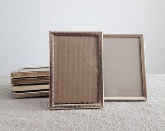 3 12 x 5 brass gold tone metal picture frames 9 x 13 cm rectangular photos wedding or shower decor bulk frames event supplies