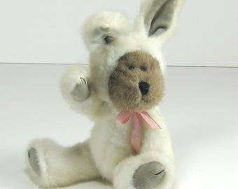 Vintage Boyds Collection teddy bear dressed in a rabbit suit articulating limbs